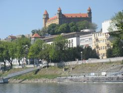 Arriving in Bratislava by Hydrofoil from Budapest