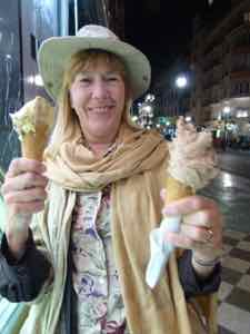 Ice Cream on the street in Granada