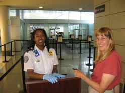 Identity check for security at airport departure