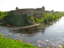 Ivangorod Castle Russia from Narva, Estonia