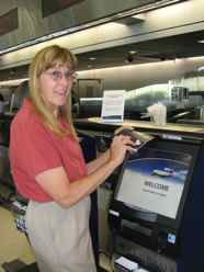 Kiosk check-in for surviving holiday flights