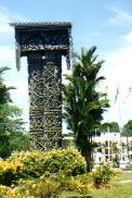 Ceremonial House Kuching Museum Island of Borneo