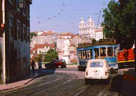 Ride Trams of any color around Lisbon