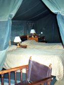 Tent interior - camp in Masai Mara