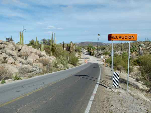 Mexican Highway 1 at Cataviña