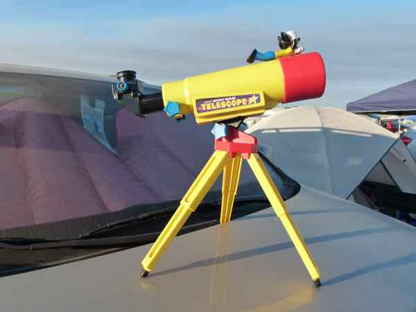 Mickey Mouse Telescope at the total solar eclipse