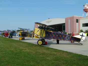 WWI planes at Military Aviation Museum Virginia Beach