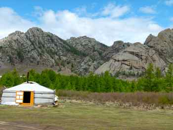 Our ger (yurt) in Terelj National Park Mongolia