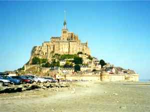 Mont Saint Michele, Island Monastery and Abbey Church in Normandy