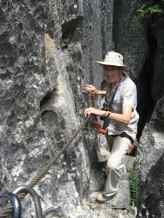 Some narrow ledges in the Tsingy