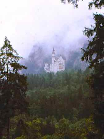Neuschwanstein seems to float on its hill