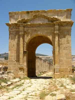 North Gate Jerash Roman Ruins, Jordan