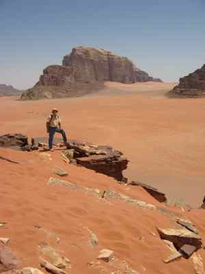 On top of a Wadi Rum Sand Dune, Jordan