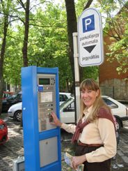 Pay and Display parking in Egar, Hungary