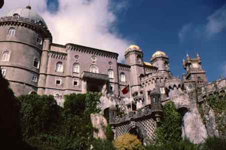 Pena Palace in Sintra Portugal. One time summer residence of the Portuguese Royal Family.