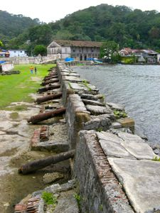 Historic little town of Portobelo, Panama