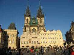 Prague Tyn Church on Old Town Square