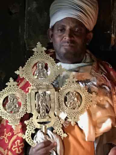 Ethiopian Priest With Ancient Cross