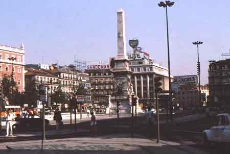 Restauradores Square Lisbon