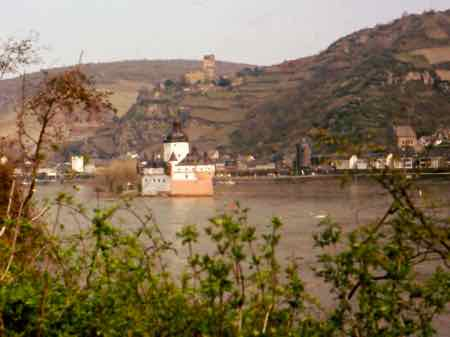 Pfalz Castle on the Rhine River