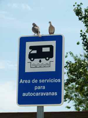 Sign in Spain shows where RVs can dump