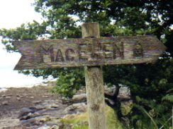 <font color=navy>Couldn't resist putting in the sign to MacEwen Castle, M&J</font>