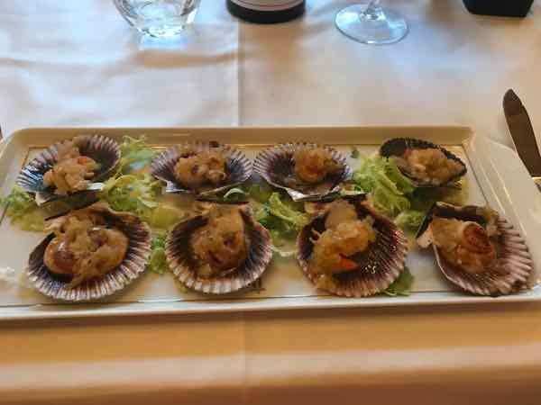Scallops For Dinner On the Way Of St. James