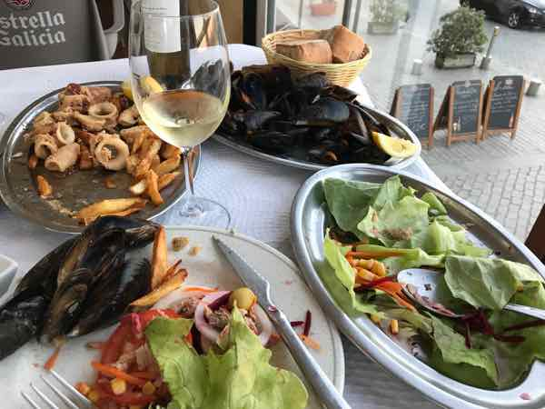 Seafood Dinner In Fisterra