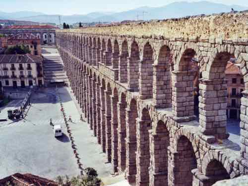 Roman aquaduct in Segovia