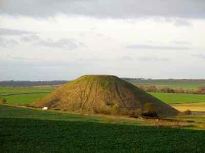 Silbury Hill near Avebury England
