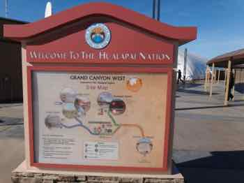Hualapai direction sign at Grand Canyon Skywalk