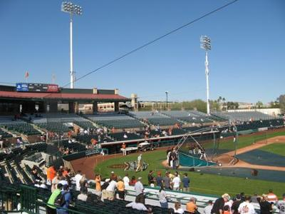 Spring Training Ball Parks are small and fun to visit.