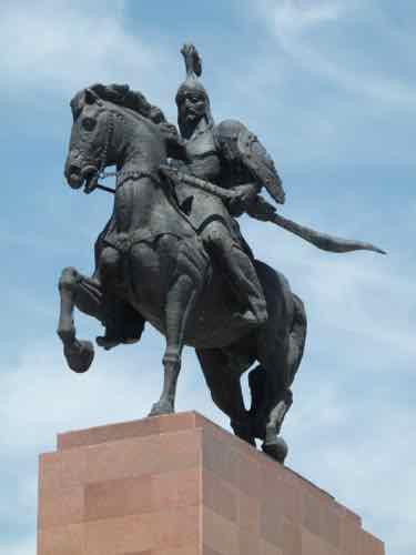 Manas statue Bishkek, Kyrgyzstan