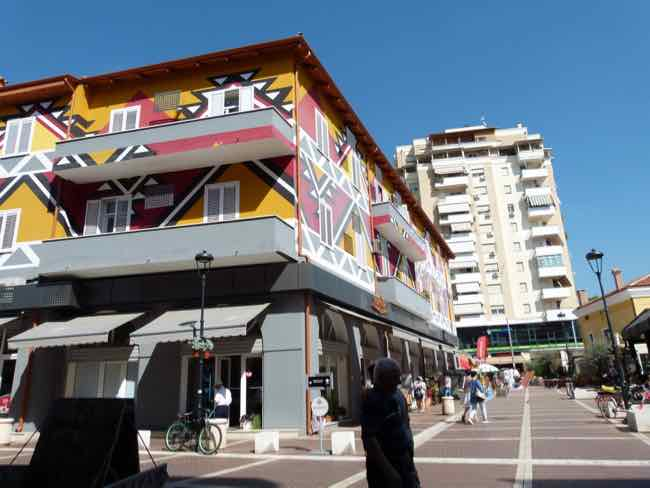 Buildings Around New Bazaar Tirana, Albania