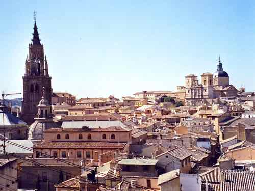 Panoramic view of Toledo, Spain
