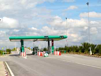 Toll booth on an auto route Tunisia this time