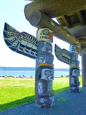 Totems at Campbell River