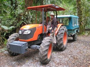 Tractor ride into the cloud forest - Panama