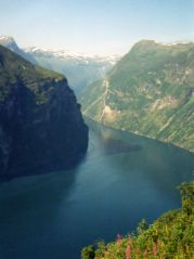Geiranger Fjord from the road above