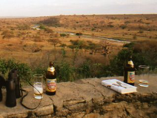 Beer for health Tarangire Tented Camp Tanzania