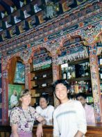 Even Bhutanese bars have traditional decor