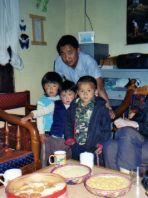 Sharing yak butter tea with Bhutanese friends