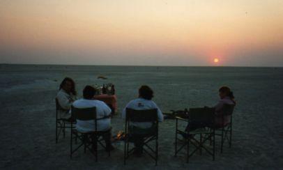 Sundownders in the Kalahari