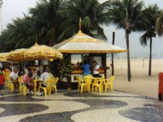 Copacabana in Rio Brazil - different sidewalk design!