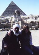 With friend at pyramids Egypt