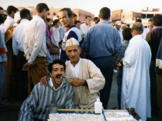 Dentistry in Dejna El Fna, Morocco... it's better than this funny tourist photo