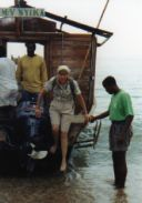 Arriving Gombe NP -  Lake Tanganyika