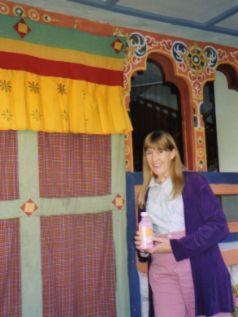 Pepto-Bismol keeps us healthy in Paro Bhutan
