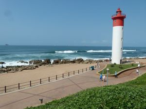 Umhalnga Rocks Lighthouse and beach near Durban South Africa