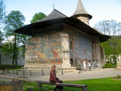 Painted Church at Voronet Romania